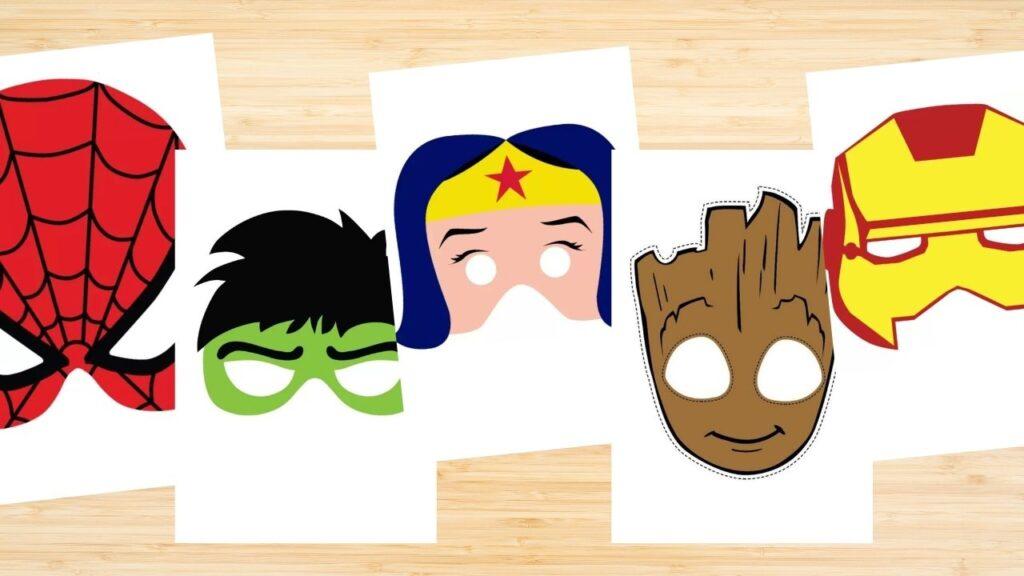 mascaras de superherores para niños
